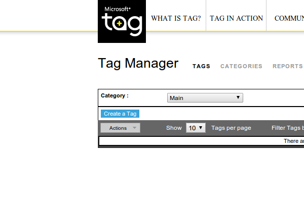 Click on 'Create a Tag'